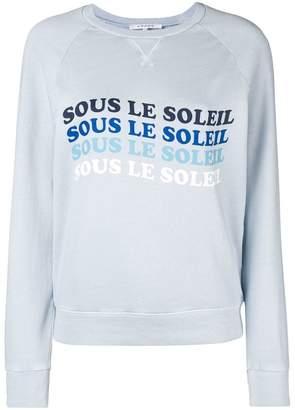 Frame printed sweatshirt