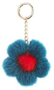 The Fur Salon Mink Flower Keychain
