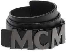 MCM Letter Leather Belt