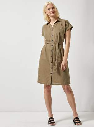 cda4dd72281e3 Dorothy Perkins Womens **Tall Khaki Shirt Dress