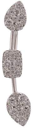 Sara Weinstock 18kt white gold Reverie multi 3 cluster diamond ear wire