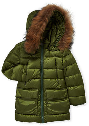 ADD Boys 4-7) Real Fur Trim Down Parka