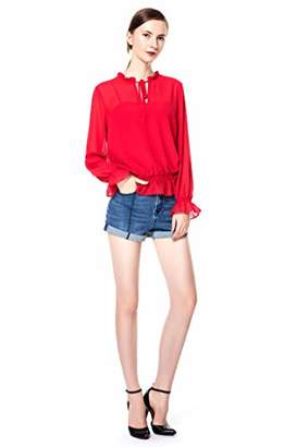 Rainbow Women's Fashion Hot Shorts Ripped Jean Shorts (M)