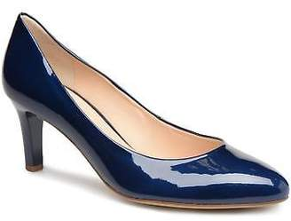 Högl Women's Tela Rounded Toe High Heels In Blue - Size Uk 4.5 / Eu 37 1/2