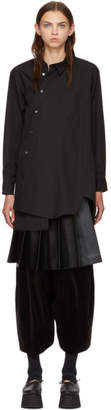 Comme des Garcons Black Asymmetric Shirt Dress
