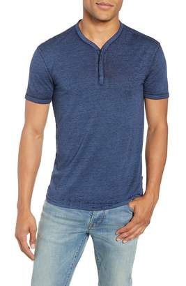 John Varvatos Burnout Henley T-Shirt