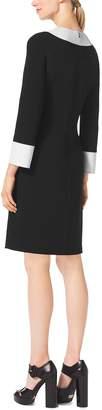 Michael Kors Color-Block Wool-Crepe Tunic Dress