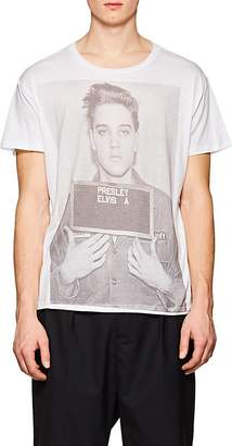 R 13 Men's Elvis Presley Mug-Shot Cotton T-Shirt