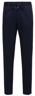 HUGO BOSS Slim-fit trousers in stretch fabric with elasticised waist