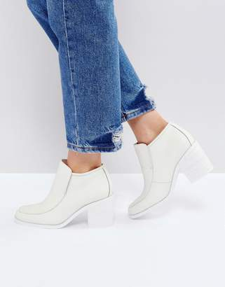 Intentionally Blank Henry White Ankle Boots
