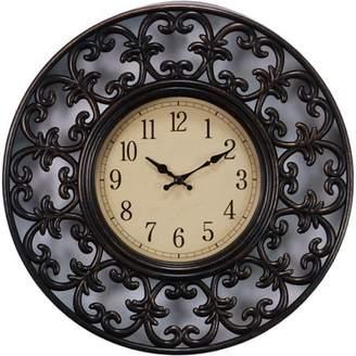 "Generic Kiera Grace Decorative Lattice Design 11"" Wall Clock with Antique Bronze Finish"
