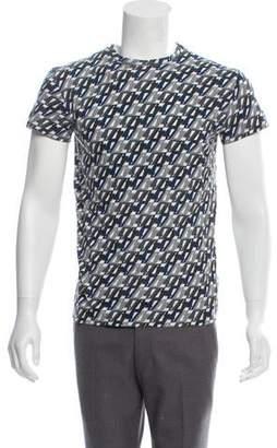 Christian Dior Printed Crew Neck T-Shirt