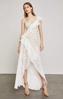BCBGMAXAZRIA Eva Two-Tone Lace Gown