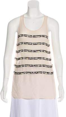 Sonia Rykiel Sleeveless Silk Top Pink Sleeveless Silk Top