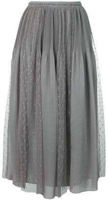 RED Valentino pleat and polka dot panel skirt