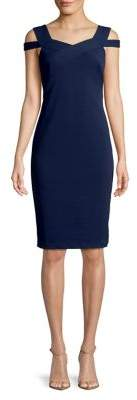 CeCe Jardin Crisscross Cold-Shoulder Dress