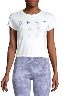 good hYOUman Best Day Ever Cropped T-Shirt