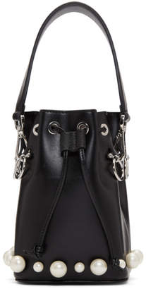 Fendi Black Pearl Mini Mon Tresor Bucket Bag