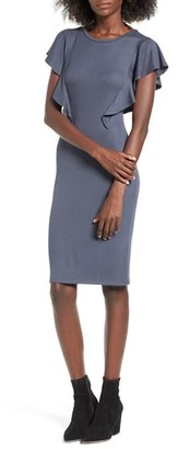 Women's Leith Ruffle Sleeve Dress $69 thestylecure.com