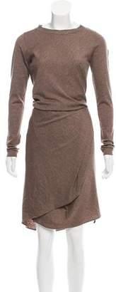Brunello Cucinelli Monili Trimmed Wool Midi Dress w/ Tags