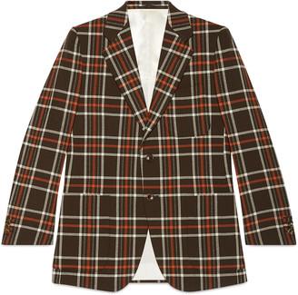 Retro Slim vintage check jacket $2,100 thestylecure.com