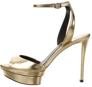 Brian AtwoodB Brian Atwood Metallic Platform Sandals