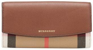 Burberry House Check and leather wallet