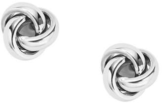 Fossil Twisted Knot Stainless Steel Studs jewelry SILVER