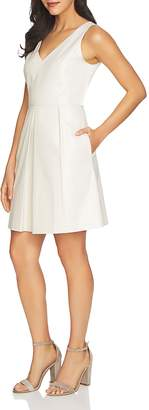 Cynthia Steffe CeCe by Rose V-Neck Jacquard Dress