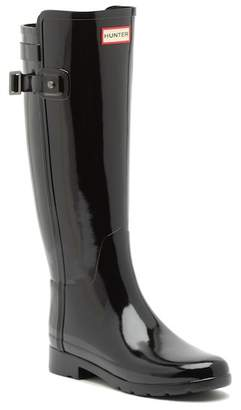 Hunter Refined Back Strap Glossy Boot