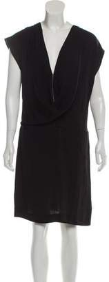 Diane von Furstenberg Silk Surplice Neckline Dress