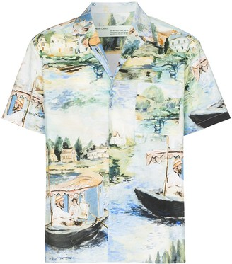 Off-White Boating print shirt