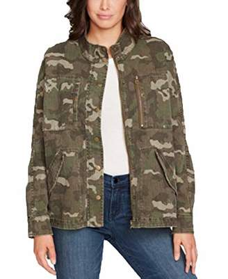 William Rast Women's Vianne Military Jacket with Lace Up Detail