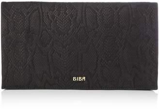 Biba Foldover Leather Clutch