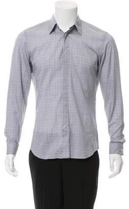 Calvin Klein Collection Striped Button-Up Shirt