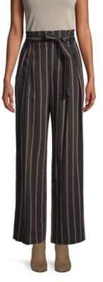 Vince Striped Wide-Leg Pants