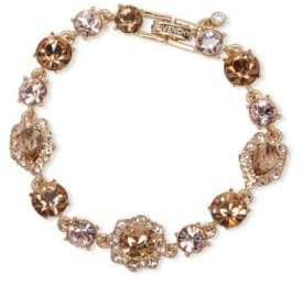 Givenchy White Metal and Glass Stone Bracelet