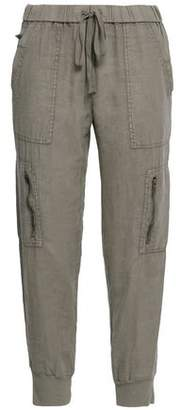Joie Cropped Linen Tapered Pants