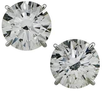 Platinum & 8.32ct Diamond Stud Earrings