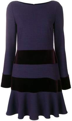 Talbot Runhof striped stretch dress