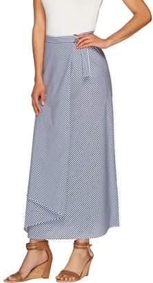 G.I.L.I. Got It Love It G.I.L.I. Petite Striped Wrap Front Maxi Skirt