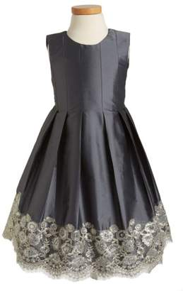 Isabel Garreton Floral Lace Pleated Dress