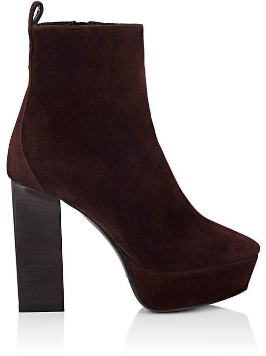 Saint Laurent Women's Vika Suede Ankle Boots