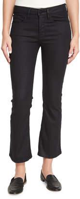 Frame Le Crop Mini Boot-Cut Coated Jeans, Carter