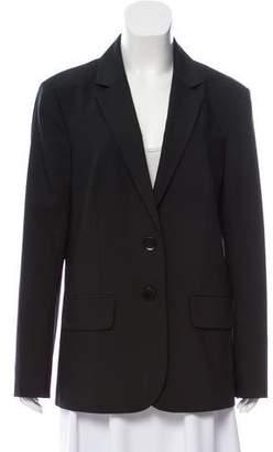 Tibi Notched Lapel Long Sleeve Blazer