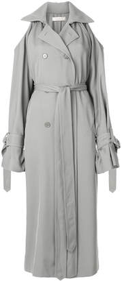 Nina Ricci cold shoulder trench coat