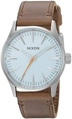 Nixon Men's 'Sentry 38' Quartz Stainless Steel and Leather Casual Watch