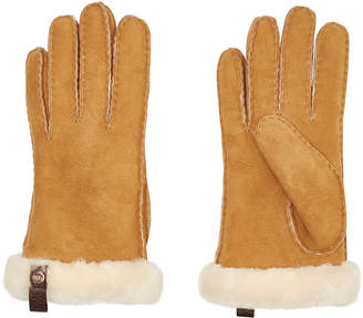 UGG Tenny Leather Gloves with Shearling
