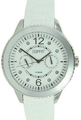 ESPRIT Women's ES105332002 Marin 68 Speed White Analog Watch $95 thestylecure.com