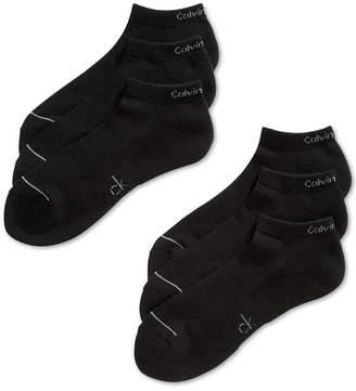 Calvin Klein Six-Pack Athletic Stripe Ankle Socks